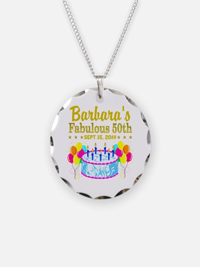 50TH BIRTHDAY Necklace Circle Charm