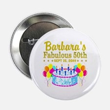 """50TH BIRTHDAY 2.25"""" Button (100 pack)"""