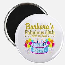 "50TH BIRTHDAY 2.25"" Magnet (100 pack)"