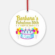 50TH BIRTHDAY Round Ornament