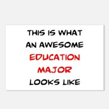 awesome education major Postcards (Package of 8)