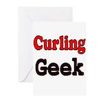Curling Geek Greeting Cards (Pk of 20)