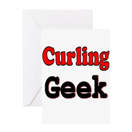 Curling Geek Greeting Card