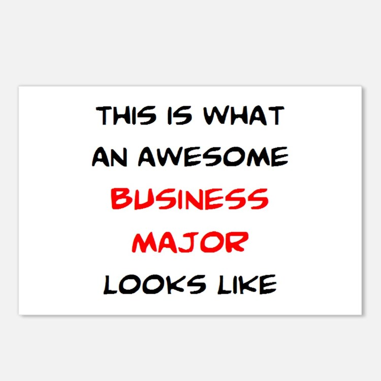 awesome business major Postcards (Package of 8)