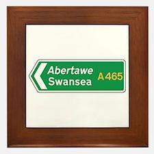 Swansea Roadmarker, UK Framed Tile