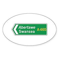 Swansea Roadmarker, UK Oval Decal