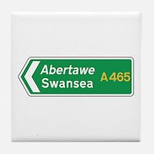Swansea Roadmarker, UK Tile Coaster