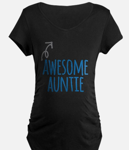 Awesome Auntie Maternity T-Shirt