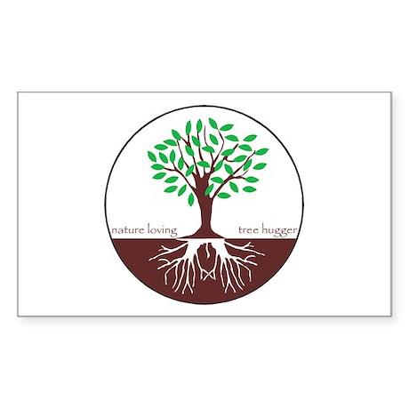 Nature Loving Tree Hugger Rectangle Sticker