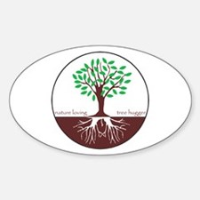 Nature Loving Tree Hugger Oval Decal