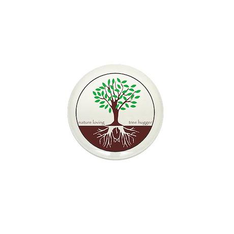 Nature Loving Tree Hugger Mini Button