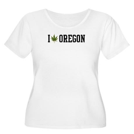 I Love Oregon Marijuana Women's Plus Size Scoop Ne