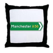 Manchester Roadmarker, UK Throw Pillow