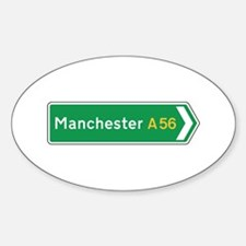 Manchester Roadmarker, UK Oval Decal