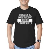 Education is important Fitted T-shirts (Dark)