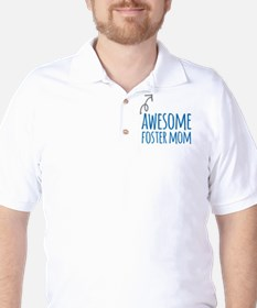 Awesome Foster Mom Golf Shirt