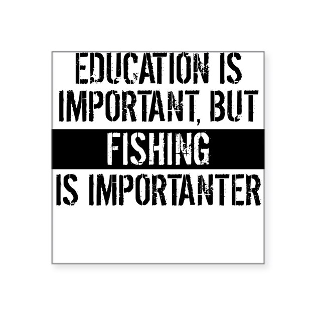 Fishing Is Importanter Sticker By Sportsandactivities