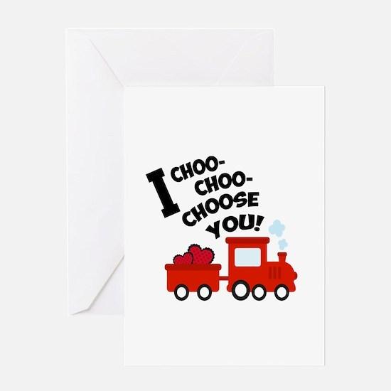 Choo-Choo Valentine Train Greeting Cards