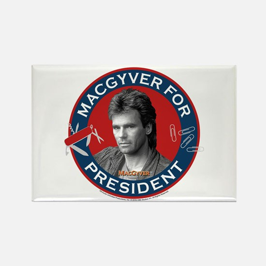MacGyver For President Rectangle Magnet