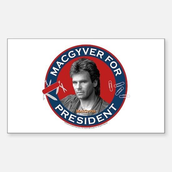 MacGyver For President Sticker (Rectangle)