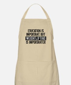 Weightlifting Is Importanter Apron