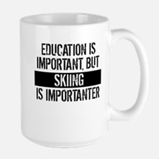 Skiing Is Importanter Mugs