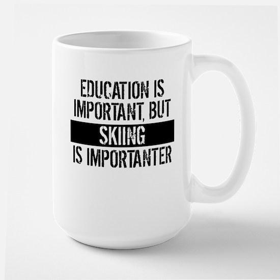Skiing Is Importanter Mugs