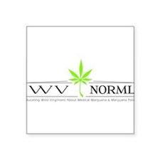 "Funny Medical marijuana Square Sticker 3"" x 3"""