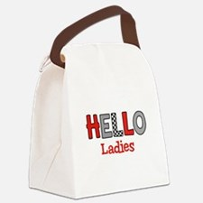 Hello Ladies Canvas Lunch Bag