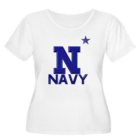 US Naval Academy Light Women's Plus Size Scoop Nec