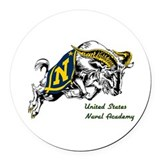 Go navy beat army Round Car Magnets