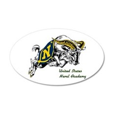 USNA Rampaging Goat 20X12 Oval Wall Decal