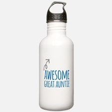 Awesome Great Auntie Water Bottle