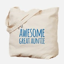 Awesome Great Auntie Tote Bag