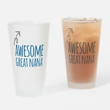 Awesome Great Nana Drinking Glass