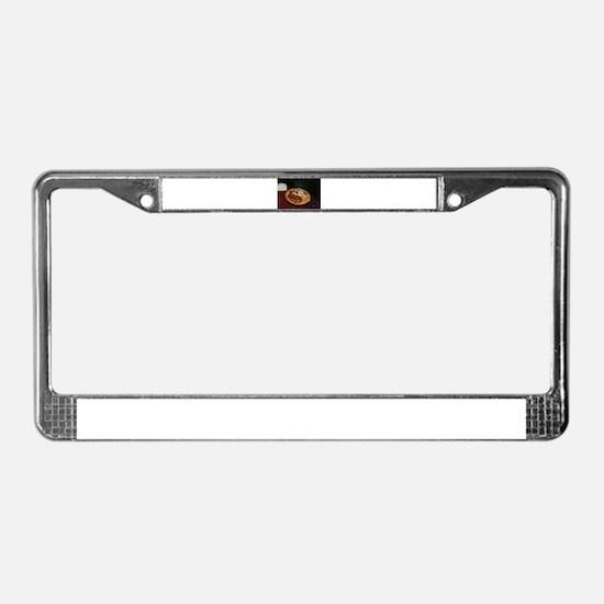 early breakfast scramble License Plate Frame