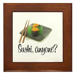Sushi Anyone? Framed Tile