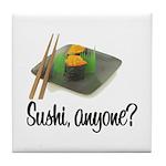 Sushi Anyone? Tile Coaster