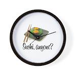 Sushi Anyone? Wall Clock