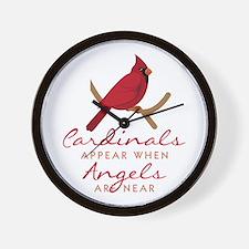 Cardinals Appear Wall Clock