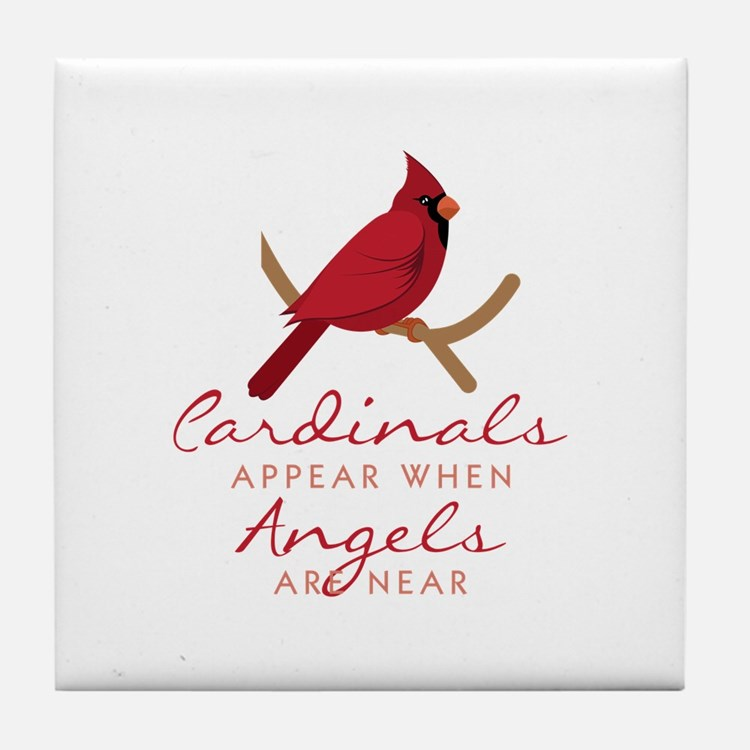 Cardinals Appear Tile Coaster