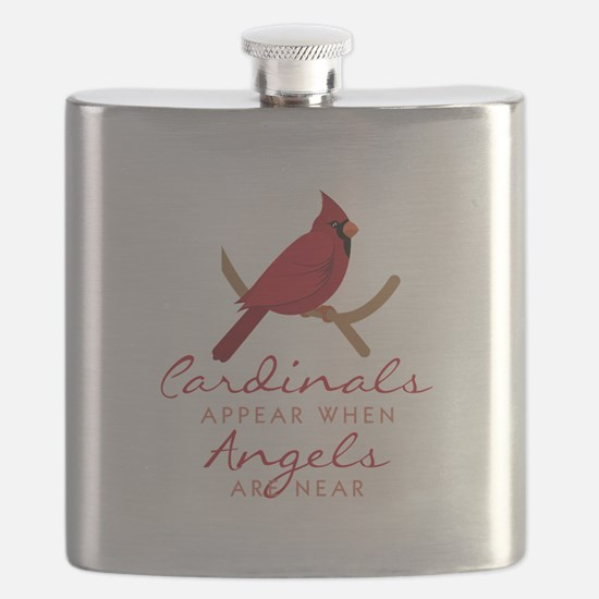 Cardinals Appear Flask