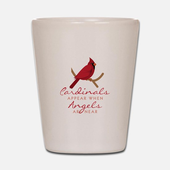 Cardinals Appear Shot Glass