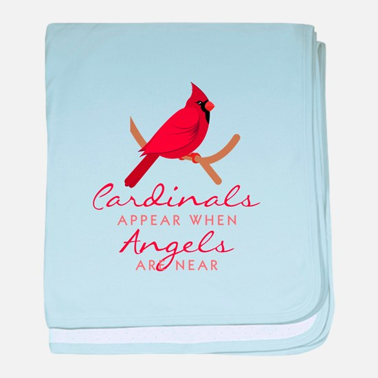Cardinals Appear baby blanket