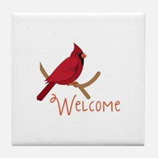 Welcome Cardinal Tile Coaster