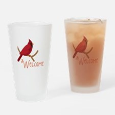 Welcome Cardinal Drinking Glass