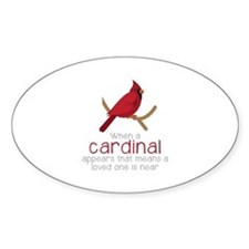 When Cardinal Appears Decal