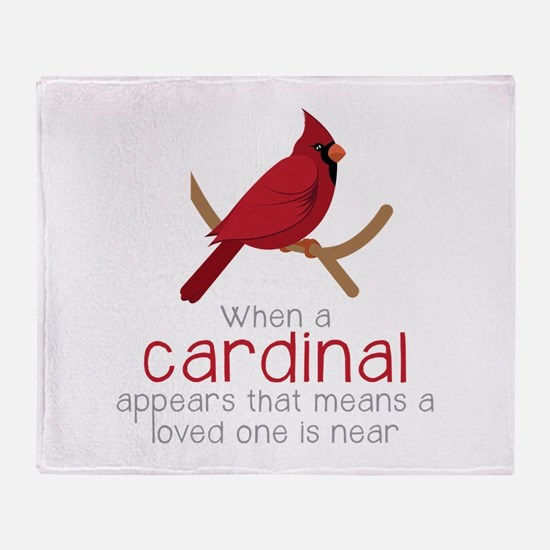 When Cardinal Appears Throw Blanket