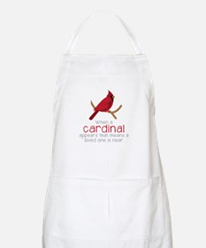 When Cardinal Appears Apron