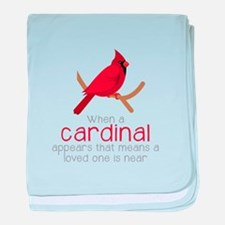 When Cardinal Appears baby blanket